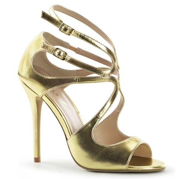 SALE! PleaserUSA Damen Riemchen-Sandaletten Amuse-15 mattgold
