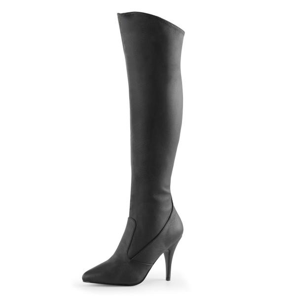 PleaserUSA High Heel-Lederstiefel Vanity-2013 Leder schwarz