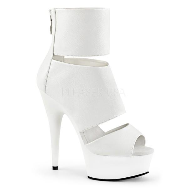 SALE! PleaserUSA Damen-Sandaletten Delight-600-16 mattweiß Gr. 40
