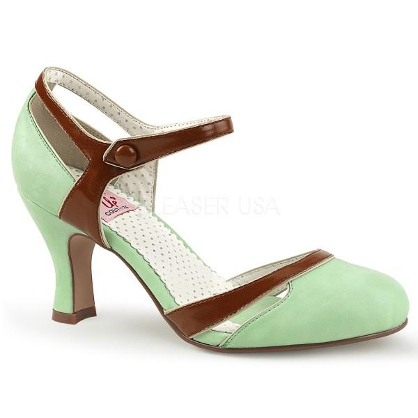 SALE! PinUp Couture Damen Two Tone Pumps Flapper-27 mint