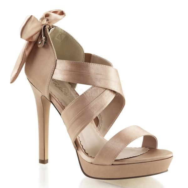 SALE! Fabulicious Damen High Heel Sandalette Lumina-29 Satin blush