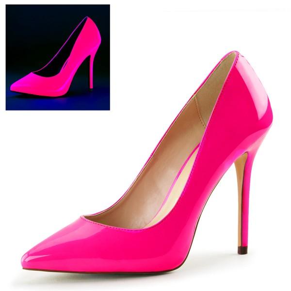 PleaserUSA High Heels Pumps Amuse-20 Neon Fuchsia