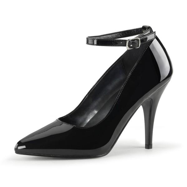 PleaserUSA High Heel-Pumps Vanity-431 Lack schwarz