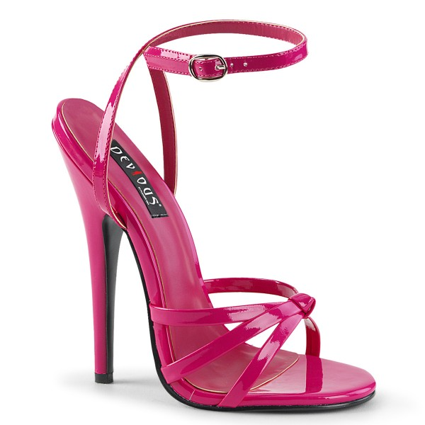Devious High Heel-Sandaletten Domina-108 Lack hot pink