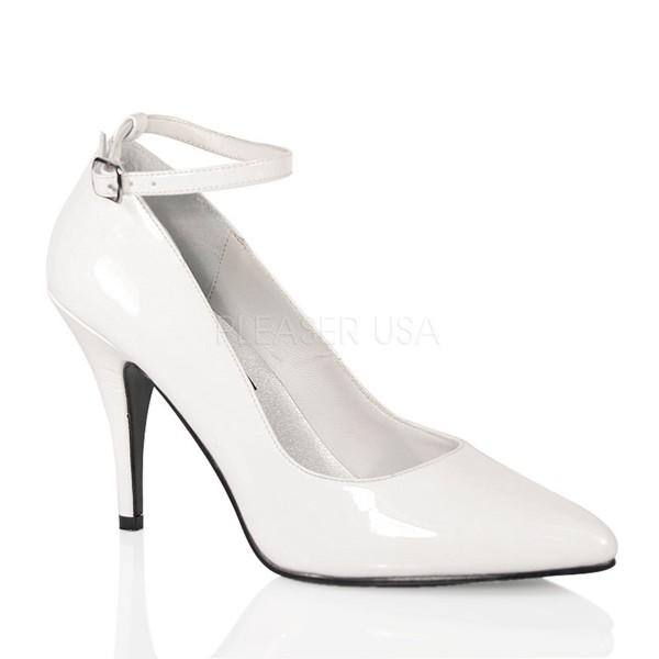 SALE! PleaserUSA High Heel-Pumps Vanity-431 Lack weiß Gr.35