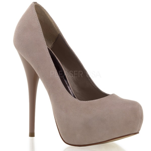 SALE! PleaserUSA Damen Plateau-Pumps Gorgeous-20 Blush suede