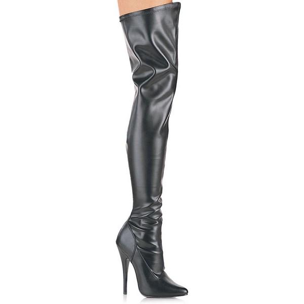 Devious High-Heel-Overknee-Stiefel Domina-3000 mattschwarz