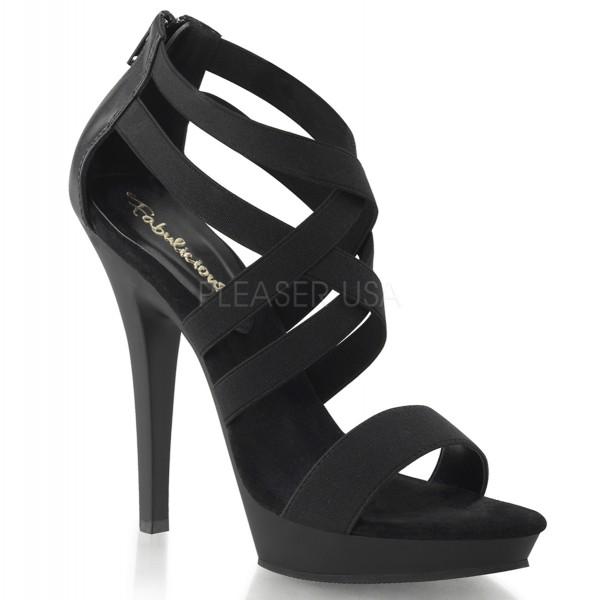 SALE! Fabulicious Damen Riemchen-Sandaletten mit Plateau Lip-169 schwarz