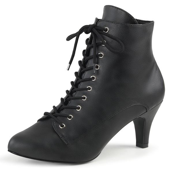 Pink Label Damen Stiefel Booties Divine-1020 schwarz Übergröße