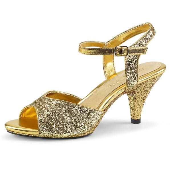 Fabulicious Damen Glitzer Sandaletten Belle-309G gold