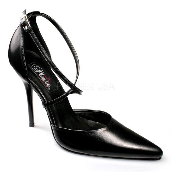 SALE! PleaserUSA Spitze Damen High Heels Pumps Milan-42 Echt Leder schwarz