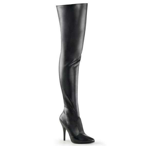 PleaserUSA High Heels-Overkneestiefel Seduce-3010 mattschwarz