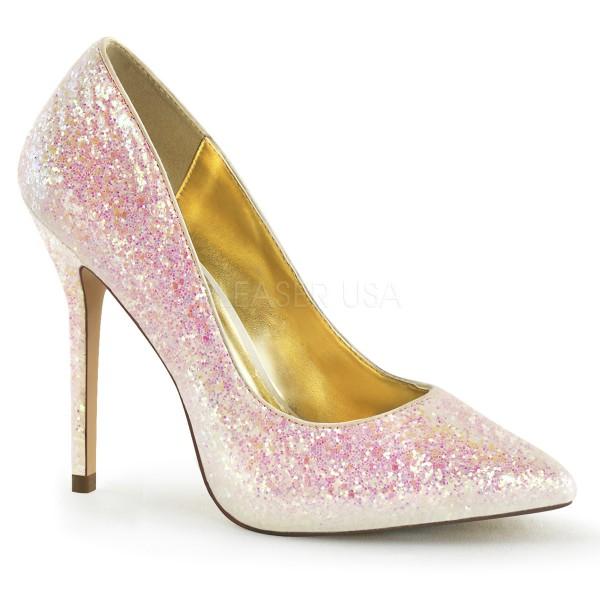 SALE! Fabulicious Damen Glitzer High Heel Pumps Amuse-20G rosé