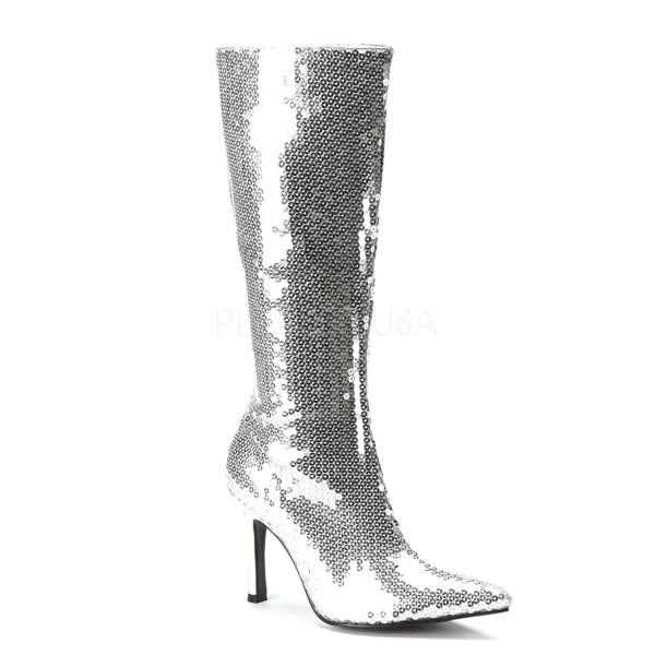 SALE! Funtasma Damen Kostüm Pailetten-Stiefel Lust-2001SQ silber