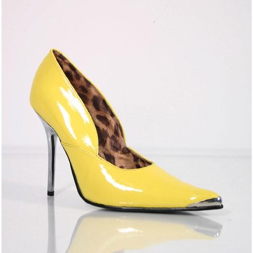 SALE! PleaserUSA Damen High Heels Pumps mit Metallabsatz Heat-01 Lack gelb