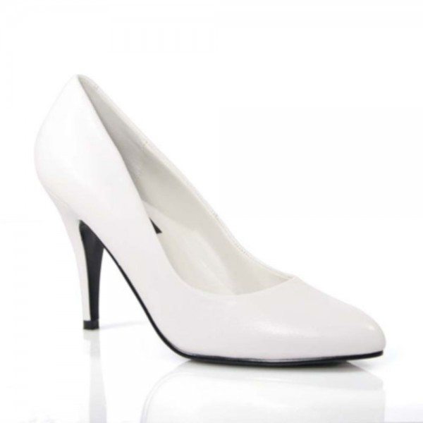 SALE! PleaserUSA Damen Pumps Vanity-420 Leder weiß
