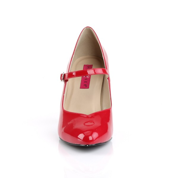 Pink Label Big Size Mary Janes Pumps Dream-428 Lack rot