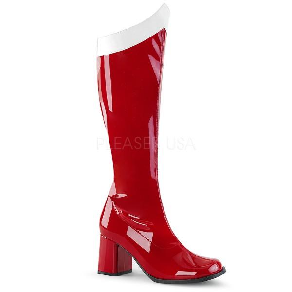 Funtasma Damen Stretch Kniestiefel Kostüm Gogo-306 rot