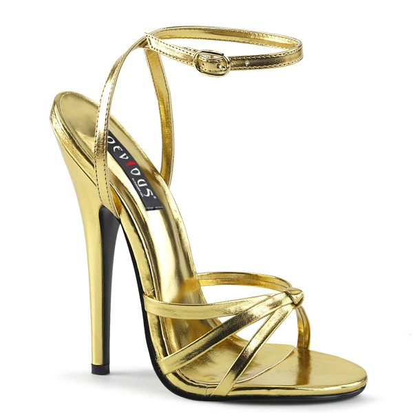 Devious High Heel-Sandaletten Domina-108 Gold metallic
