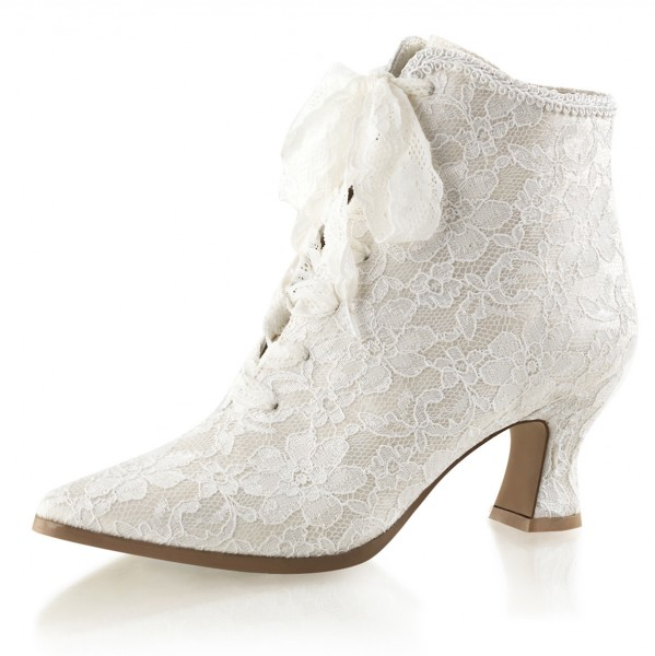 Fabulicious Stiefeletten Victorian-30 ivory