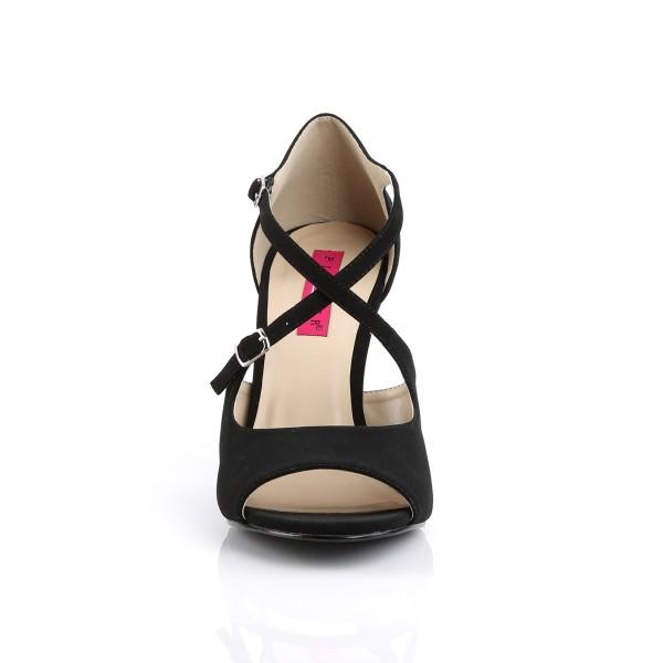 Pink Label Big size Crisscross Sandaletten Sandalen Dream-412 schwarz