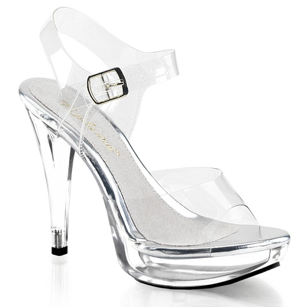 Fabulicious High Heels Sandaletten Cocktail-508 klar