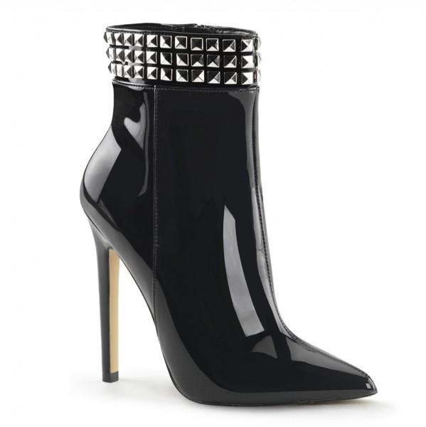 PleaserUSA High Heels-Stiefeletten Sexy-1006 Lack schwarz