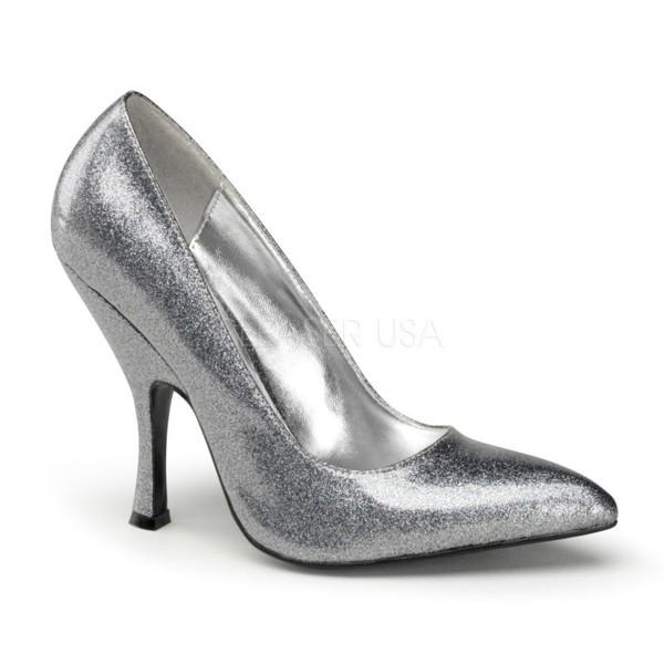 SALE! PinUp Couture Damen Glitzer Lack Pumps Bombshell-01G Silber Gr. 40