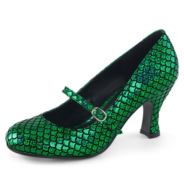 Funtasma Damen Meerjungfrau Kostüm Schuhe Mermaid-70 grün schimmernd