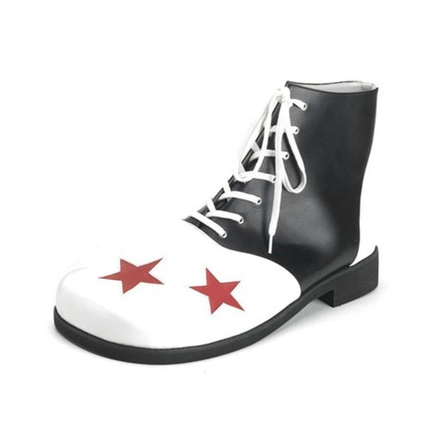 Funtasma Clown-Schuhe mit Schnürung Clown-02 schwarz/weiß