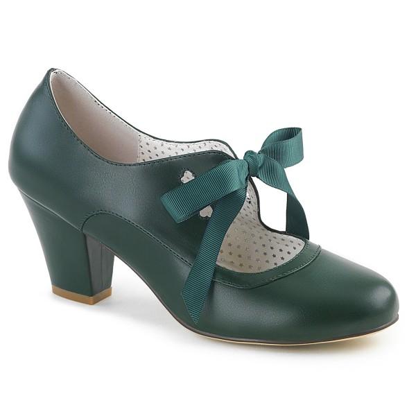PinUp Couture Damen Mary Janes Pumps mit Schleife Wiggle-32 dunkelgrün