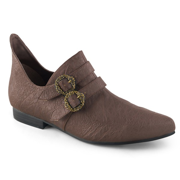 Funtasma Spitze Herren Renaissance Schuhe Aldix-20 braun Kostüm LARP