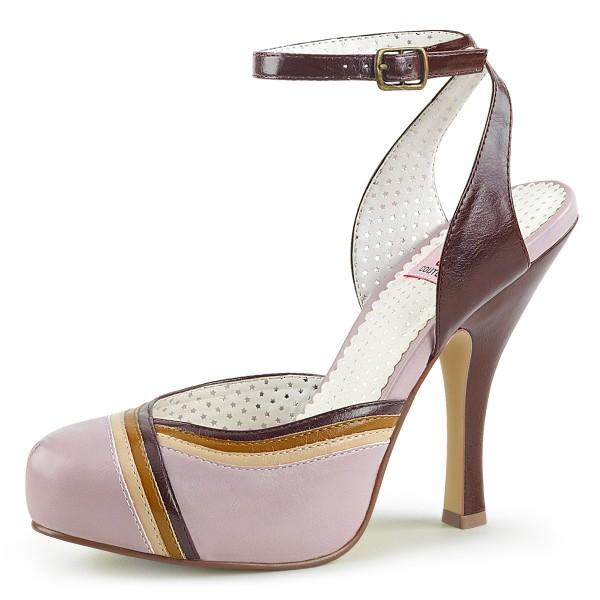 PinUp Couture Damen Riemchen Sandaletten Cutiepie-01 Lilac Multi
