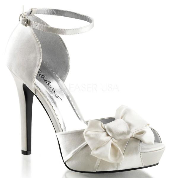 SALE! Fabulicious Damen High Heel Sandalette Lumina-36 Satin ivory