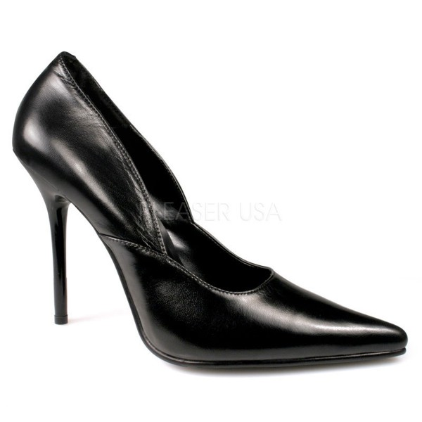 SALE! PleaserUSA Spitze Damen High Heels Pumps Milan-01 Leder schwarz