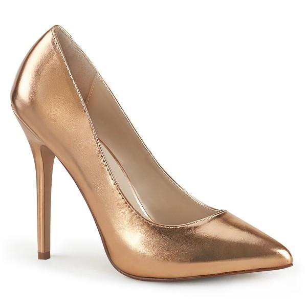 PleaserUSA Damen High Heels Pumps Amuse-20 Rose-Gold