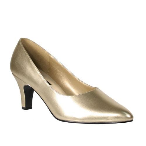 SALE! PleaserUSA Extra weite Damen Pumps Divine-420 mattgold