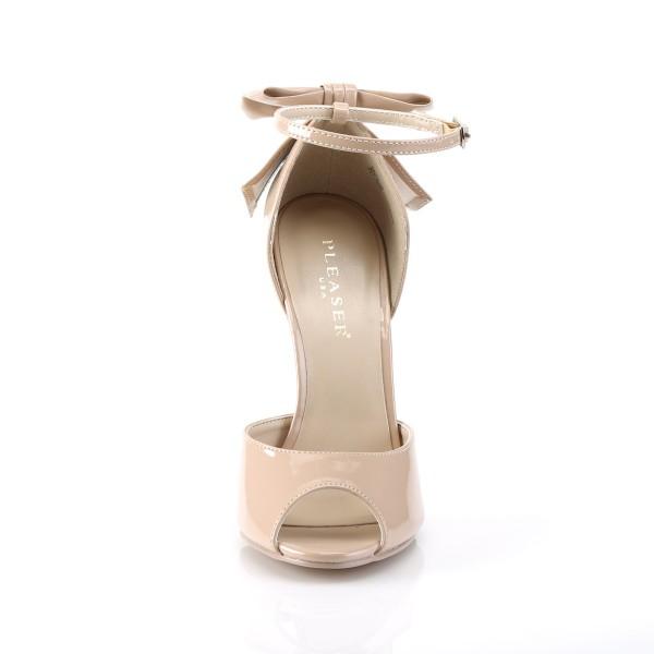 PleaserUSA High Heels-Sandaletten Sexy-16 Lack nude