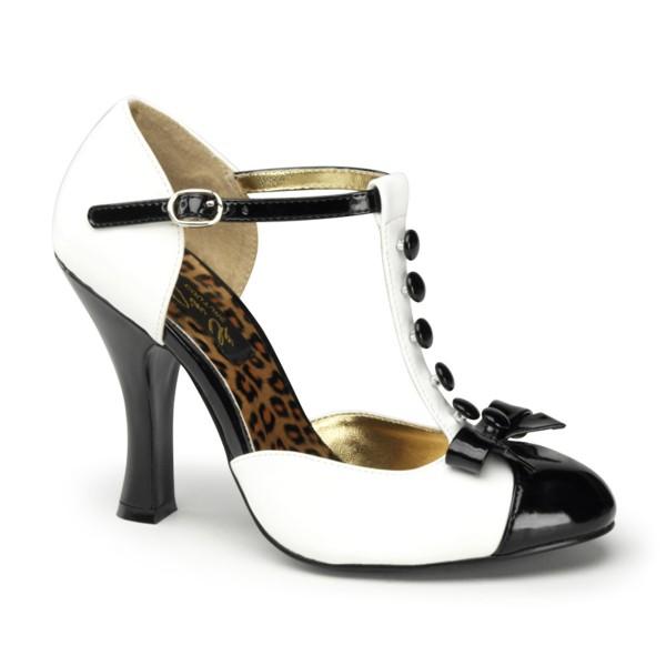 PinUp Couture High-Heels Sandaletten Smitten-10 weiß
