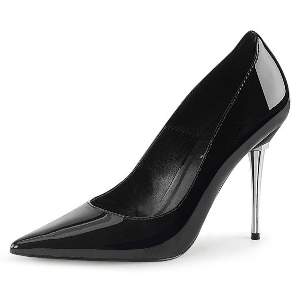 PleaserUSA Damen Stiletto High Heel Pumps Appeal-20 Lack schwarz