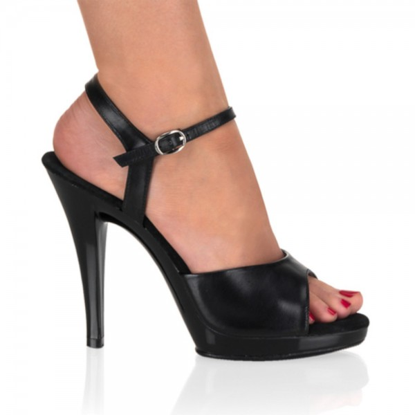 SALE! PleaserUSA Klassische Damen-Sandaletten Flair-409 Leder schwarz Gr. 36