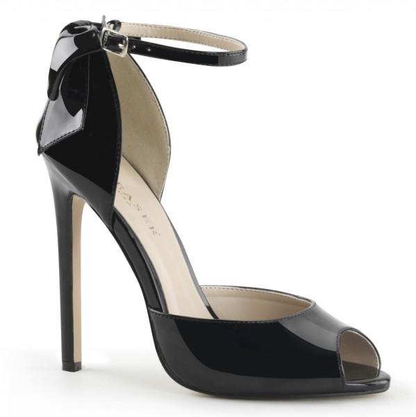 PleaserUSA High Heels-Sandaletten Sexy-16 Lack schwarz