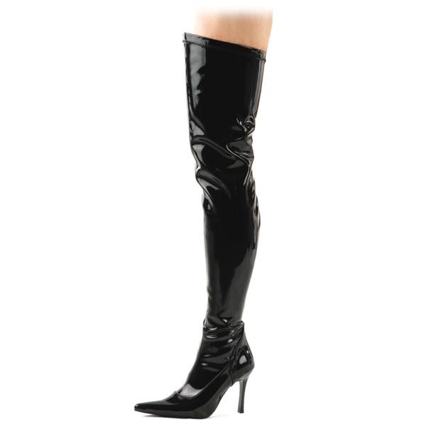 Funtasma Damen Overknee-Stiefel Lust-3000 Lack schwarz