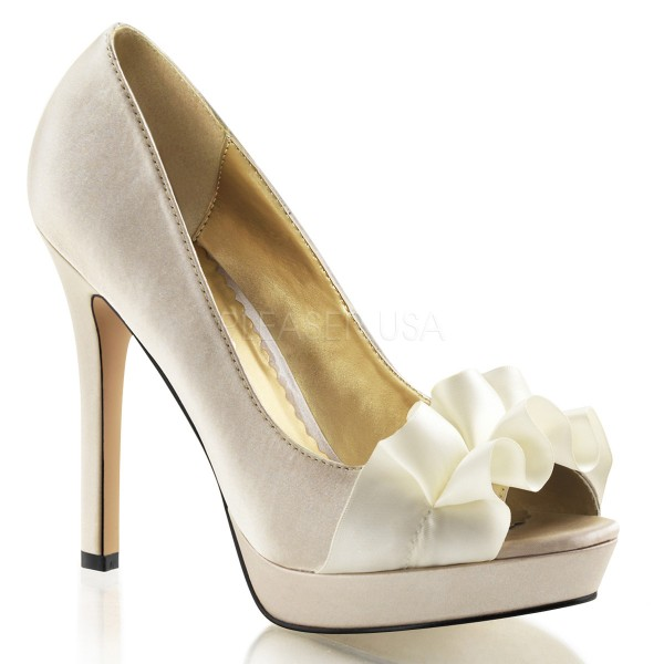 SALE! Fabulicious Damen High Heel Pumps Lumina-42 Satin champagne