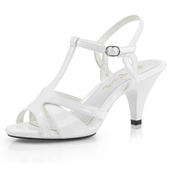 Fabulicious Damen Sandalen Sandaletten Belle-322 Lack weiß