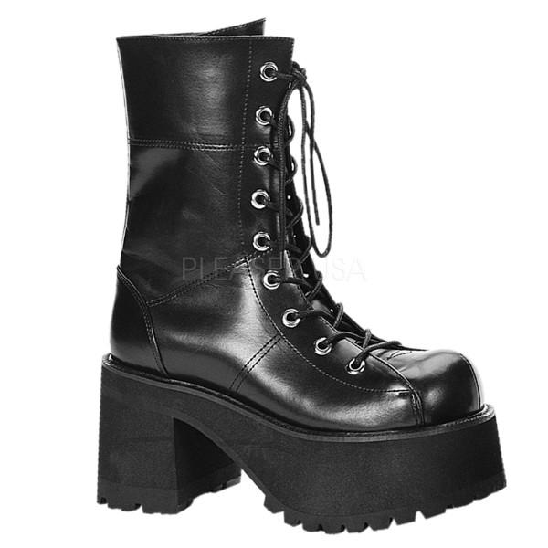 Demonia Goth Punk Gogo LaceUp-Boots Ranger-301