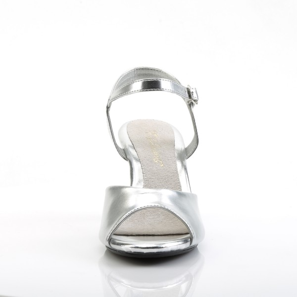 PleaserUSA Sandaletten Belle-309 silber/klar
