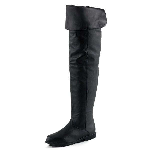 Funtasma Damen Overknee Stiefel Raven-8826 Echt Leder schwarz