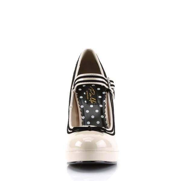 PinUp Couture High-Heels Pumps Secret-15 creme