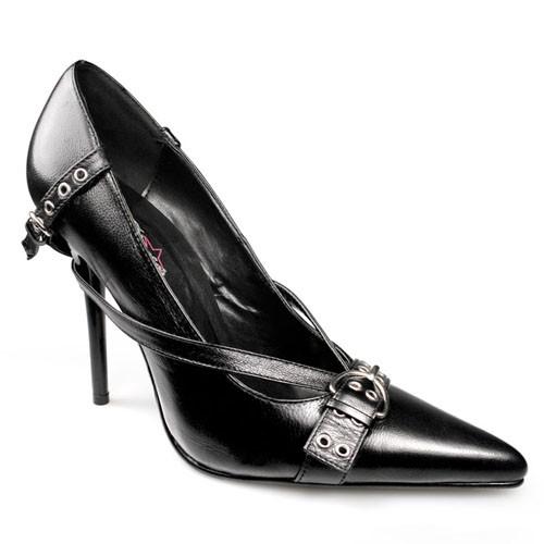 SALE! PleaserUSA Damen High Heels Pumps Milan-10 Leder schwarz Gr. 39